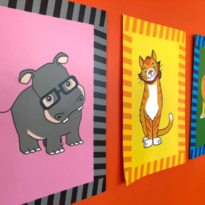 ReadngVIPs Critter Cards Wall Cards